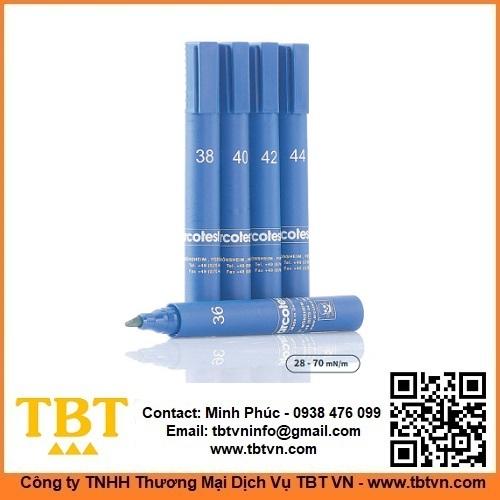 Bút thử sức căng bề mặt mực màu xanh