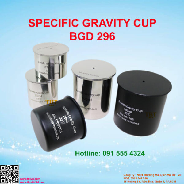 SPECIFIC GRAVITY CUP BGD 296